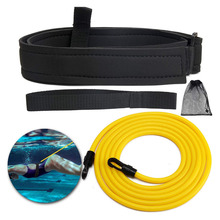 Belt Adjustable Swim-Training-Resistance Swimming for Kid Exerciser Safety-Rope Latex