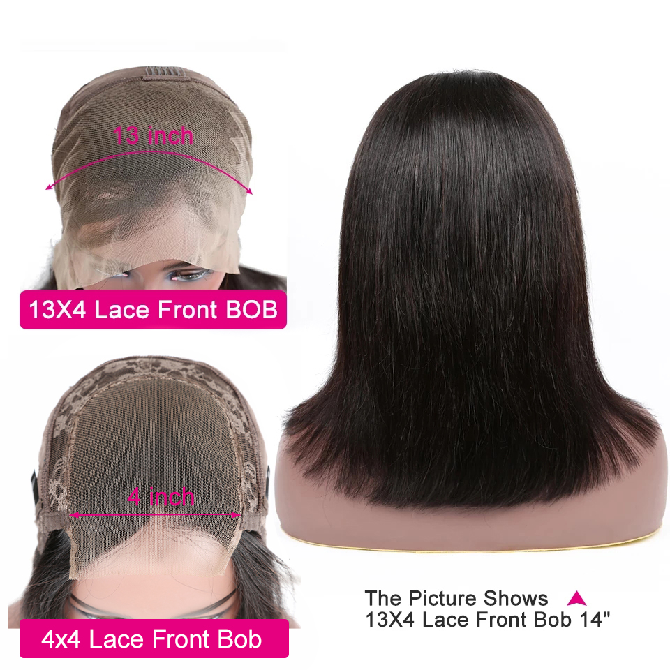 Yyong 13x4 Blunt Cut Bob Wig Short Lace Front  Wigs   Straight Bob Wigs With Baby Hair 4X4 Closure Bobg 2