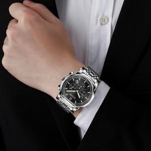 Image 4 - DOM montres de sport pour hommes, chronographe de marque, étanche, à Quartz lumineux, en acier, montre pour hommes