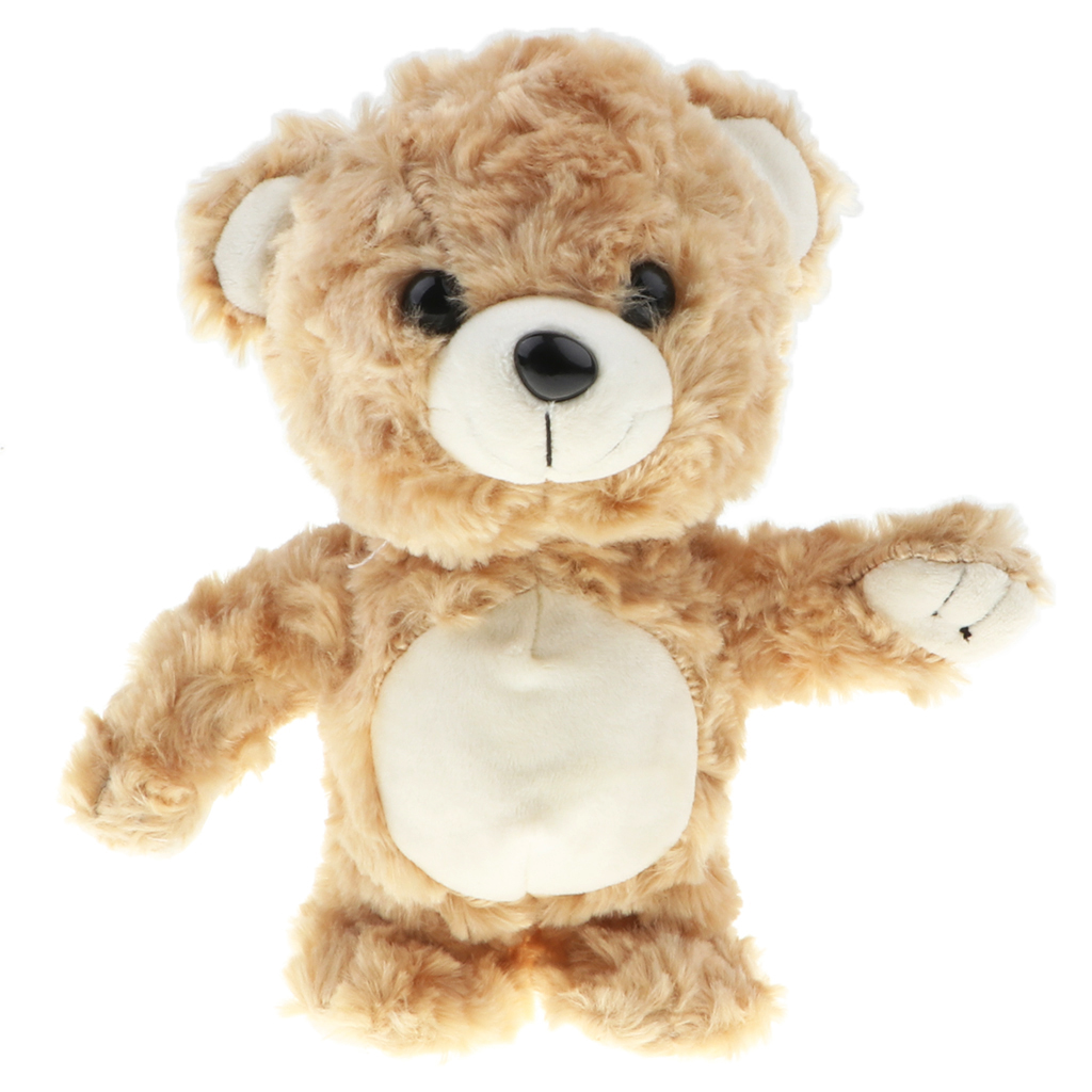 Brown Color Talking & Walking Bear Plush Toy, Repeat What You Say, Funny Stuffed Toy For Kids Toddler