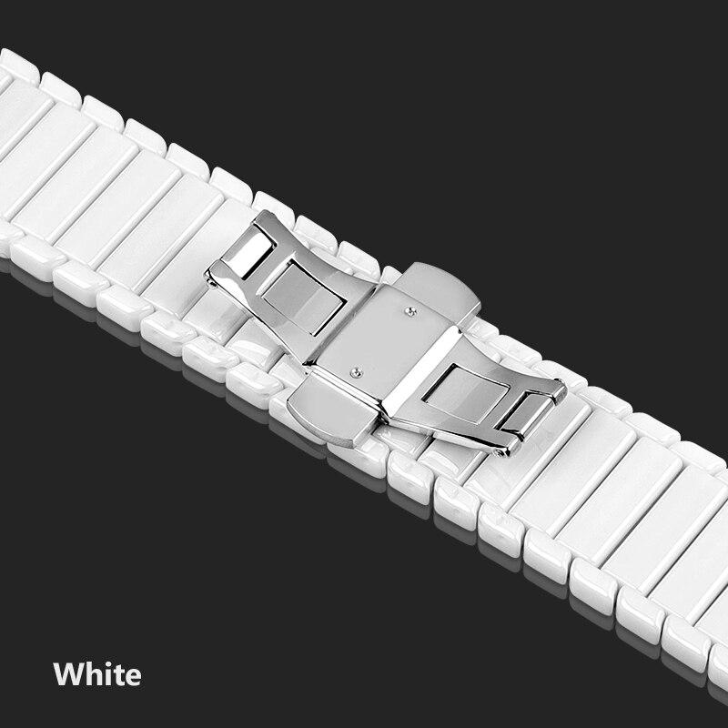 Керамический ремешок для часов для xiaomi smart watch сменный ремешок для mi часы браслет-цепочка ремешок аксессуары - Цвет ремешка: White