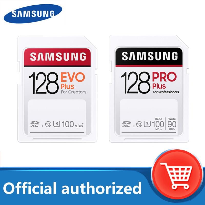 Carte SD SAMSUNG EVO Plus/PRO 128 go carte mémoire 32 go 64 go 256 go C10 UHS-I tarjeta sd pour caméra vidéo 4K et FHD livraison gratuite