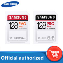 SAMSUNG-tarjeta SD EVO Plus/PRO, tarjeta de memoria de 128GB, 32GB, 64GB, 256GB, C10, UHS-I, para cámara de vídeo 4K y FHD, envío gratis