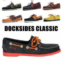 Men Genuine Leather Driving Shoes,Docksides Classic Boat Shoe,Brand Design Flats Loafers For Homme Femme Women 2021A002