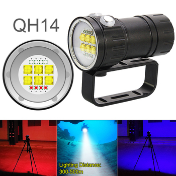 LED Diving Flashlight 28800 Lumens Six 9090 XML2 + Four XPE R5 + Four XPE R5 Scuba with 7 Modes Underwater Canister Lamp 3500 lumens 3 modes cree xml xpe led flashlight torch lamp light outdoor