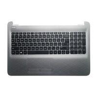 GZEELE NEW Laptop Palmrest For HP 250 G5 15-AC 15 AC 15-AF 15-AJ Laptop Palmrest Keyboard Bezel Upper Case Touchpad Silver