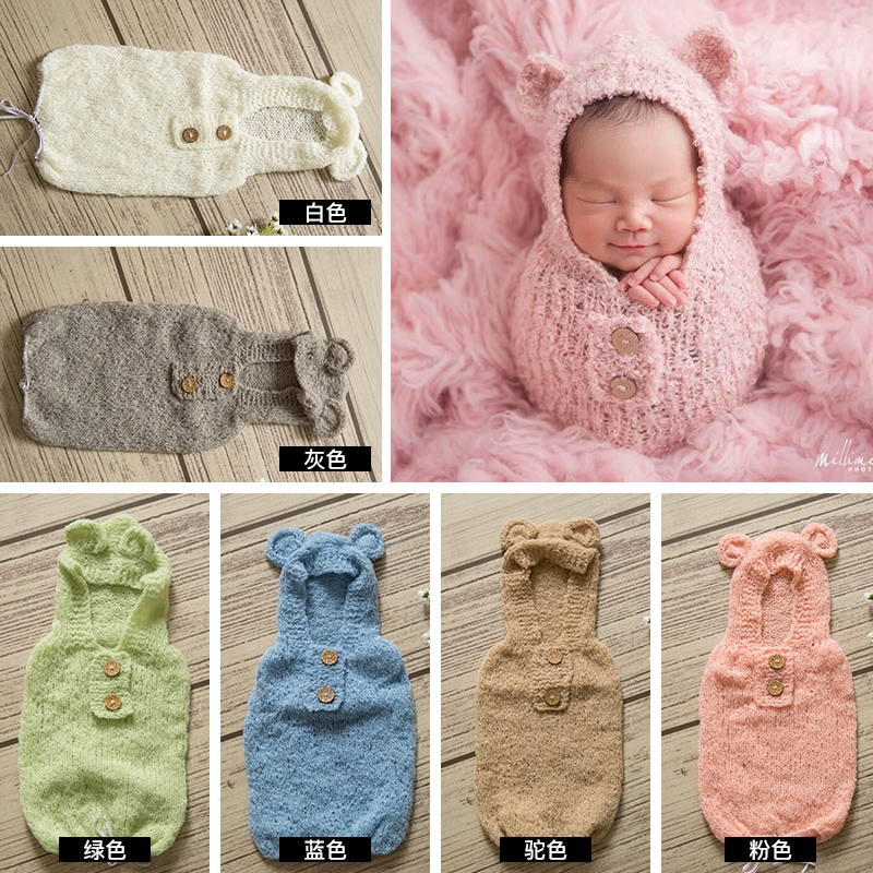 Baby Newborn Photography Props,handmade Knit Wool Circle Yarn Sleeping Bag For Newborn Photography Props