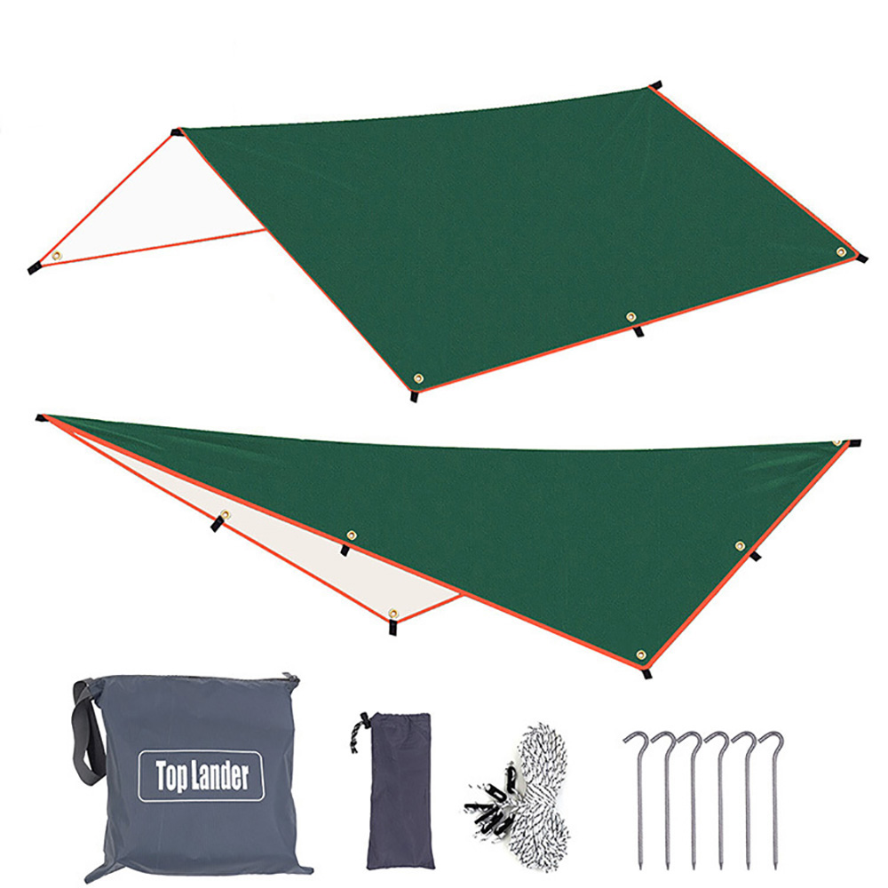 3x3m 3x4m Sun Awning with 6 Pegs and 6 Ropes Waterproof <font><b>Car</b></font> Shade Sunshade Garden Beach Umbrella Travel Camping <font><b>Tent</b></font> Tarp image