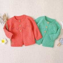 Для маленьких девочек Зимняя одежда для маленьких мальчиков свитер для новорожденных свитер кардиган, вязаный свитер, вязаный пуловер свитшот Bebe Invierno Wy4