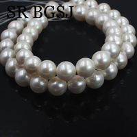 Free Shipping 10 11mm High Quality 5A Perfect Round White Natural Freshwater Pearl Jewelry Beads Strand 15