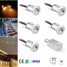Reflektory LED 12V 1W wpuszczane oświetlenie sufitowe kuchnia schody szafa lampa korytarz światło ekspozycyjne szafka Downlight IP65 z kierowcą tanie tanio KPSUN CN (pochodzenie) HOLIDAY ROHS 3 Years Aluminium Żarówki led focos led NICKEL 12 v 1W led downlight 30D 120D 95LM