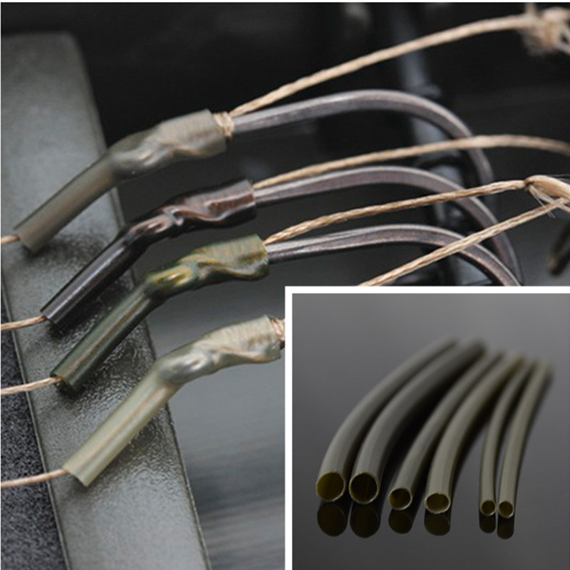 25PCS Carp Fishing Accessories Heat Shrink Tubes Rubber Sleeves Heating Shrink Tubing For Carp Rigs Croase Fishing Tackle