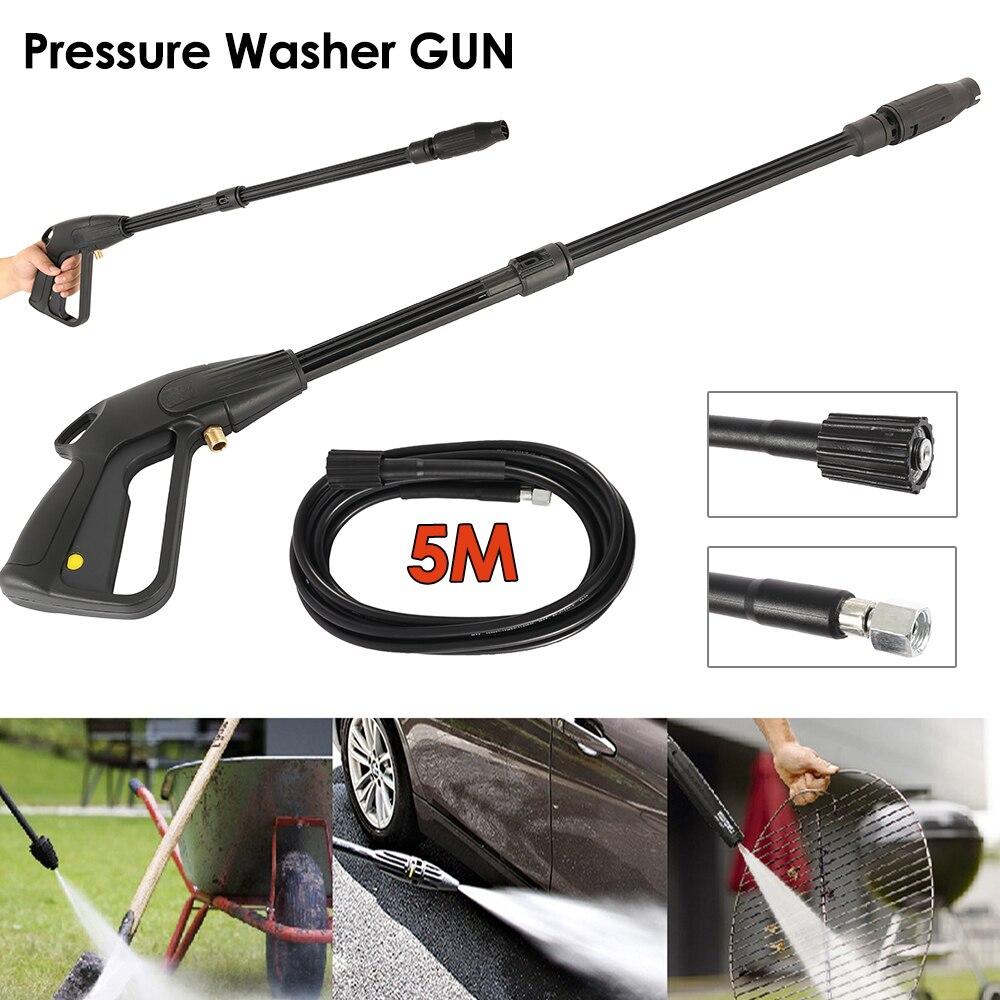 High Pressure Washer Spray Gun + 5m Washing Hose Kit For Car Jet Lance Wash