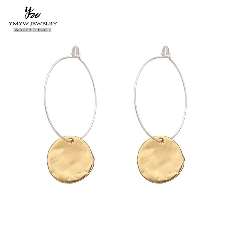 Fashion Minimalist Zinc Alloy Punk Stud Earrings Vintage Gold Earrings Party Jewelry Gift