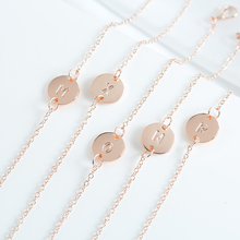 Fashion Bracelet & Bangle Rose Gold Color Circular Metal Adjustable for Women 26 Letter Statement Jewelry