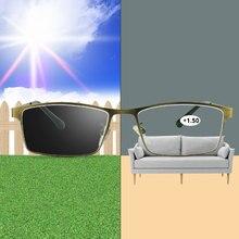 Gafas de lectura fotocromáticas camaleón Bloqueo de luz azul para hombre, lentes de Ordenador + 1,0 1,5 2,0 2,5 3,0 4