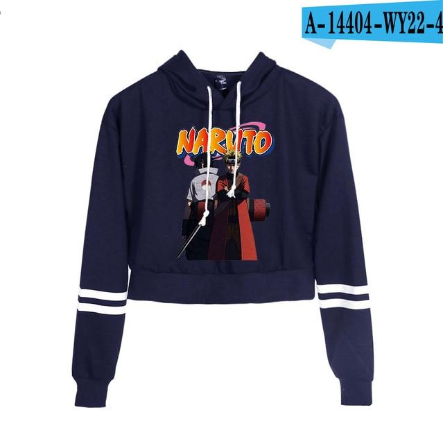 Now United Crop Top Hoodies Harajuku Japanese Anime Uzumaki Printed Hoodie Women Streetwear Fashion Cropped Sweatshirt Coat 8