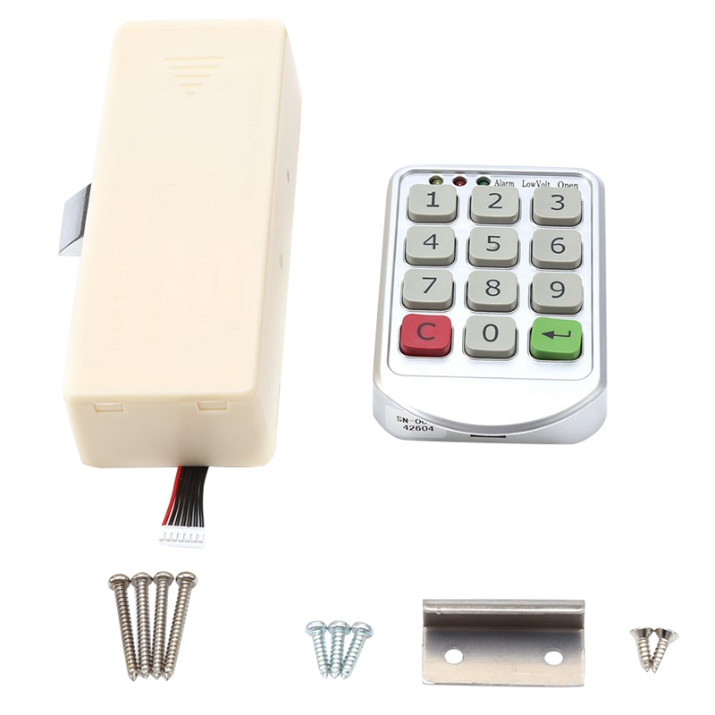 Electronic Cabinet Lock Set, Intelligent Digit Keypad Password Door Code Locks Keyless Locker Security Lock Drawer