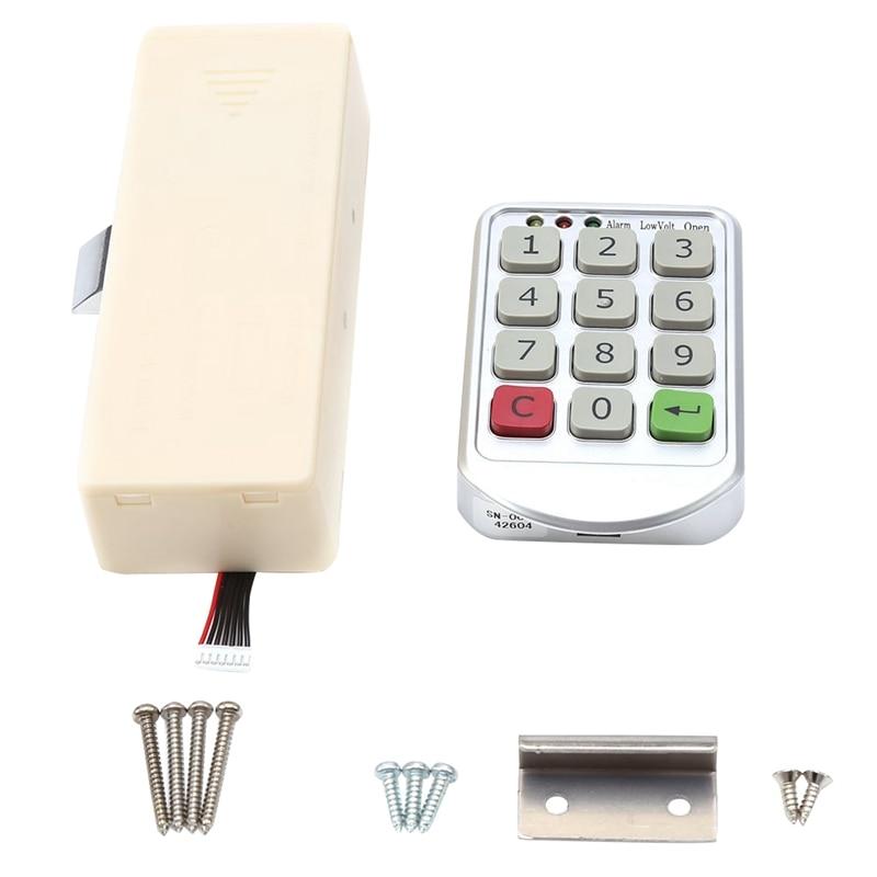 Electronic Cabinet Lock Set, Intelligent Digit Keypad Password Door Code Locks Keyless Locker Security Lock Drawer