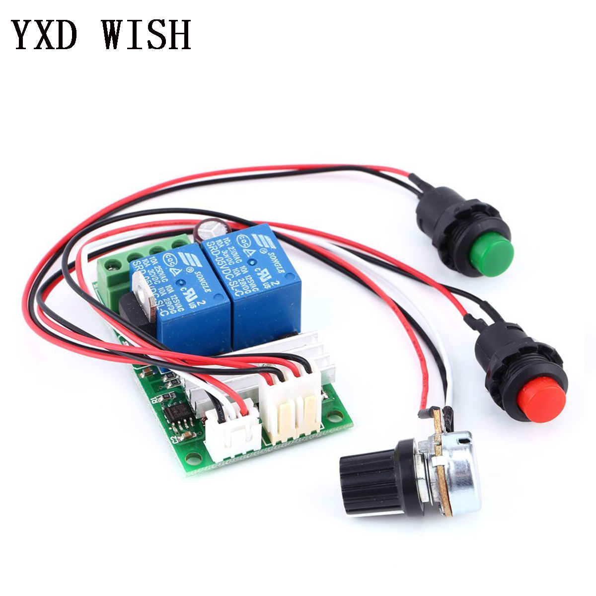 PWM DC Motor Speed Regulator Controller Board Adjustable Speed Control Reversible PWM Relay Module DC 6V-28V 12V 24V 3A 21kHz