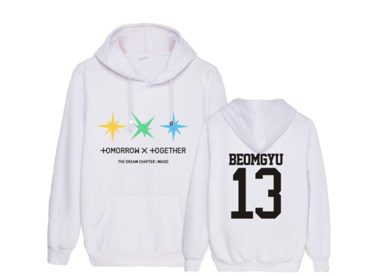 Kpop Txt The Dream Chapter Magic Album Same Member Name Printing Thin Hoodies Unisex Fashion Pullover Loose Sweatshirt
