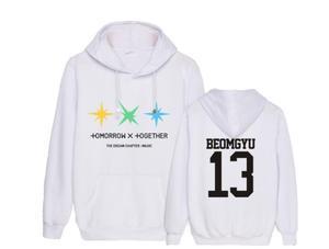 Kpop txt the dream chapter magic album same member name printing thin hoodies unisex fashion pullover loose sweatshirt(China)