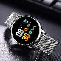 Kyubi Smart Watch Men Women Fashion Business Waterproof Heart Rate Blood Pressure Monitor Fitness Bracelet Smartwatch Q8 Fashion