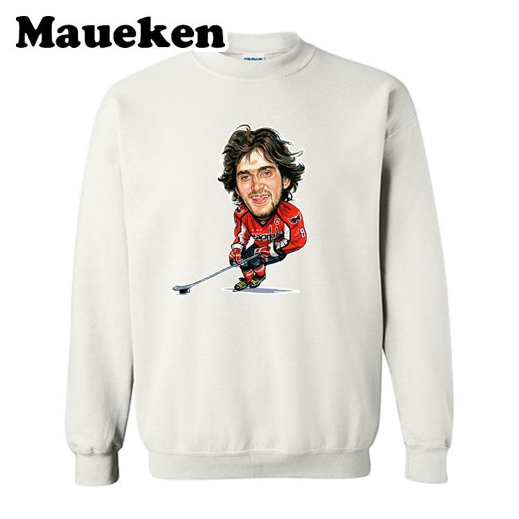 Fashion Sweatshirt ice Hockey Legend Front Style Alexander Ovechkin Sweatshirt