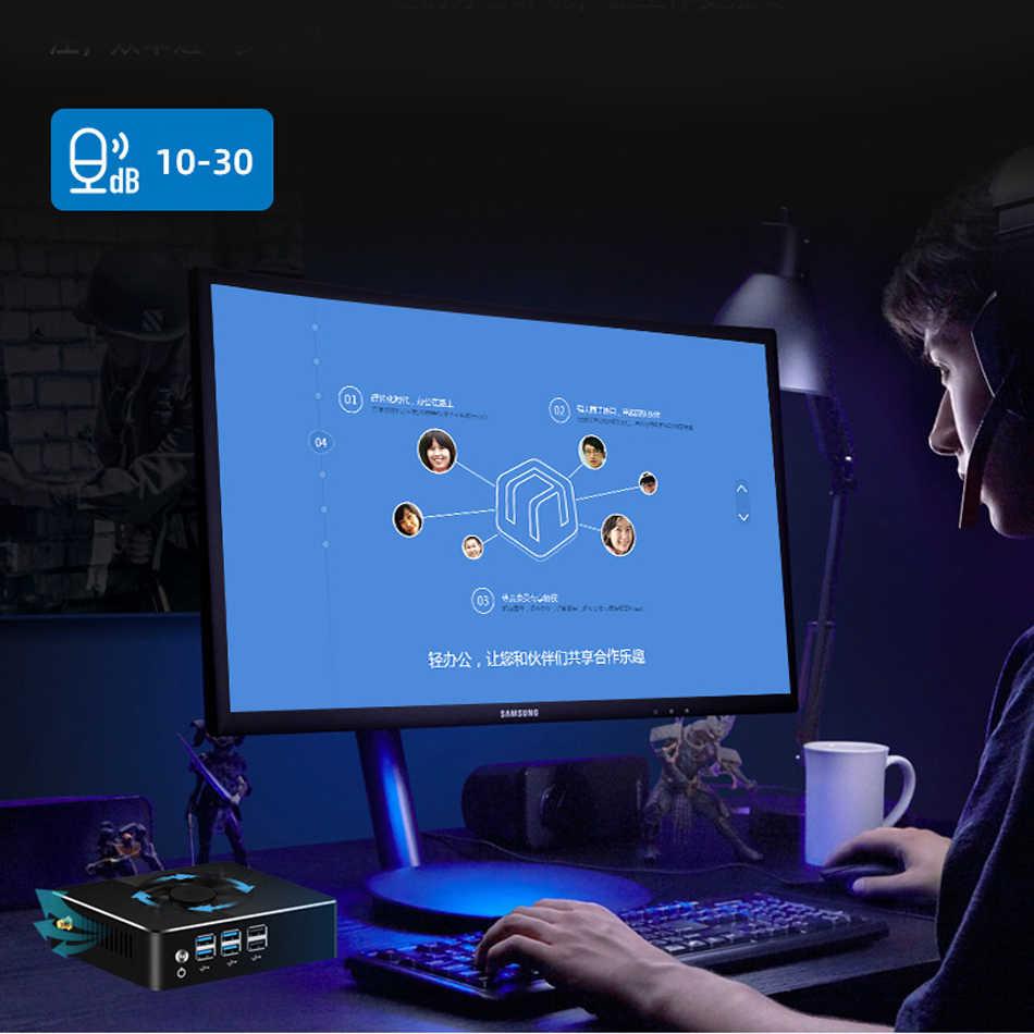 Intel core 8th i7 8550u i7 7500u, mini pc intel gráfico hd, windows 10, linux, wifi, hdmi, vga computador desktop tv visture v101