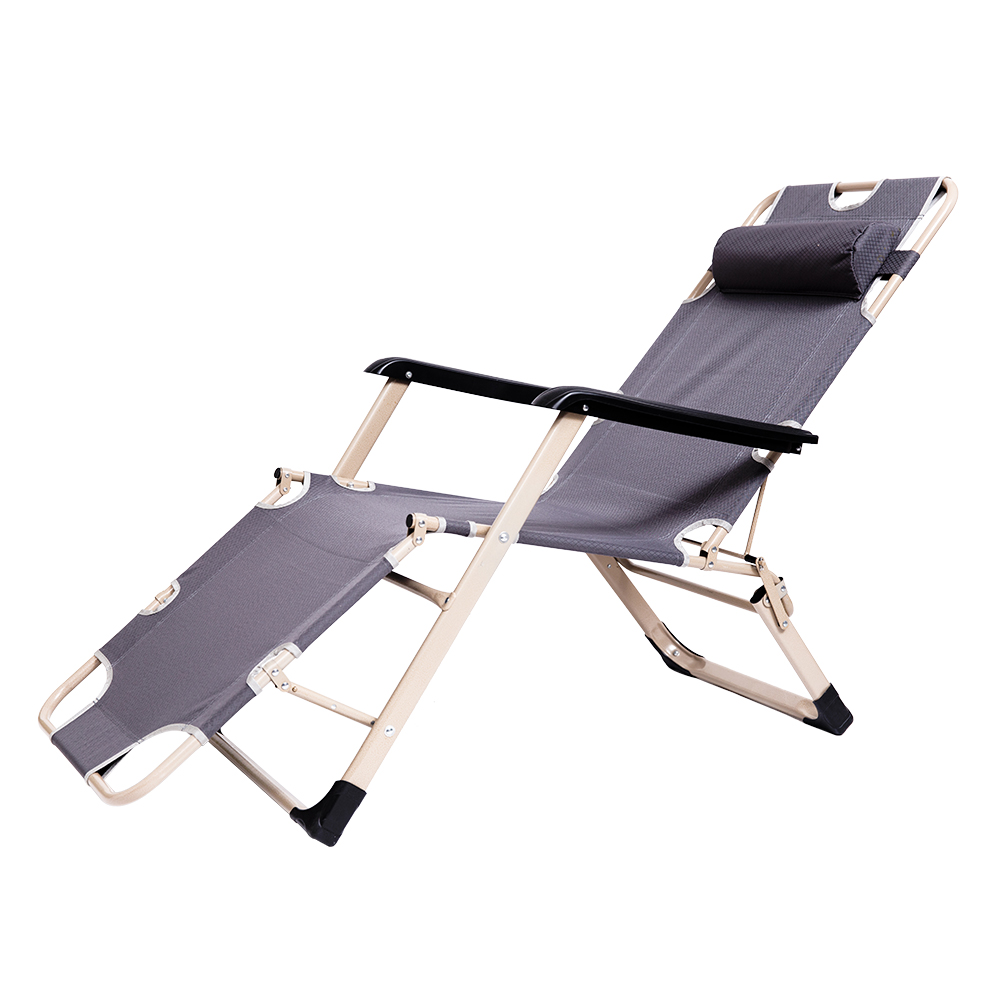 Home  Office Fishing Chair Metal Modern Beach Chairs Folding Bed Siesta Bed Simple Siesta Couch Chair Office Siesta Bed