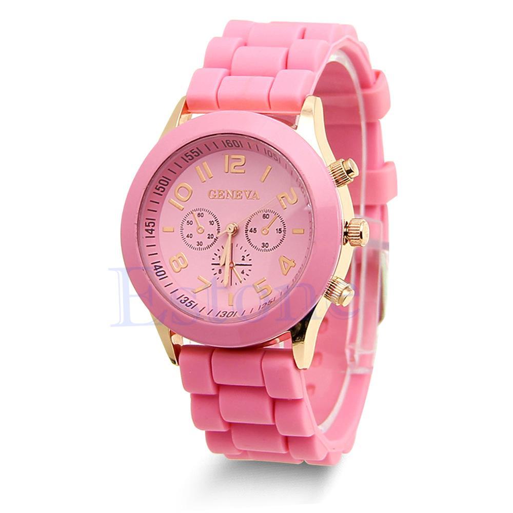 Unisex Ladies Boys Girls Geneva Silicone Jelly Quartz Wrist Watch