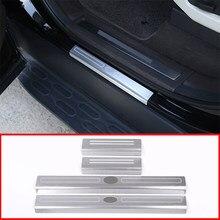 4 stücke Aluminium legierung Außentür-Schwellen-verschleiss Schwelle Schutz Platte Abdeckung Trim Für Land Rover Discovery 5 LR5 L46 auto Styling