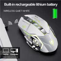 3500DPI Drahtlose Lade Gaming Maus 2,4 Ghz Hintergrundbeleuchtung Mechanische Stumm Optische Maus 6 Taste Einstellbar DPI für Pc Laptop