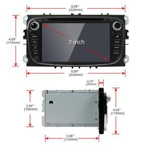 Image 5 - Radio con gps para coche, Radio con navegador, Android 10,0, 2 din, DVD, Wifi, 3G, BT, estéreo, para Ford Focus 2, Mondeo, c max, S, max, Galaxy