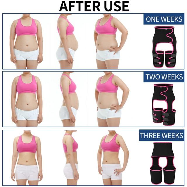 Big Sale Sweat Slim Thigh Trimmer Waist Trainer Leg Shapers Slender Slimming Belt Shapewear Muscles Band Weight Loss Body Shaper 3