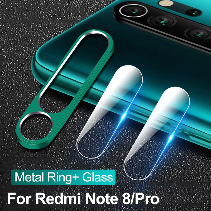 Tempered Glass + Metal Protective Ring for Xiaomi Redmi 8 8A Note 8 Note 8 Pro Note 8T Note8T 8Pro Camera Lens Protection(China)