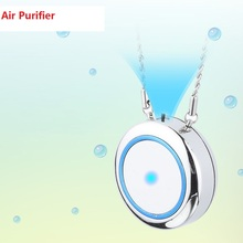 KBAYBO Air Purifier Necklace Mini Portable USB Air Cleaner Negative Ion Generator Low Noise Air Freshener цена и фото