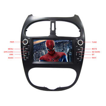 YAZH Android 9.0 DVD CD Player For Peugeot 206 2002 2003 2004 2005 2006 2007 2008 Auto Radio With Bluetooth 5.0 Screen Link SWC