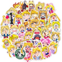 50 Pcs Exquisite Self-made Guardian Sailor Moon Girl Scrapbooking Decorative Sticker Decoration /waterproof Paper Stickers