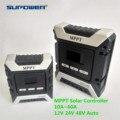 10A 20A 30A 40A 50A 60A Hohe Effizienz MPPT PV Solar Laderegler 12V 24V 48V Auto batterie LCD Solar Regler Dual USB
