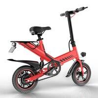 48V 7.5Ah 400W Aluminium Alloy Smart E Bike 14 Rear Suspension Mini Foldable Electric Bicycle Bike 3 Colors