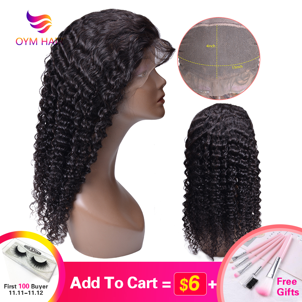 Malaysian Curly Lace Front Wig With Baby Hair 10-24Inches 13*4 Lace Front Human Hair Wigs For Black Women Non Remy Hair Lace Wig