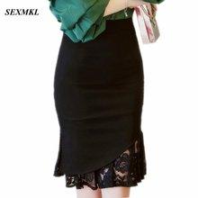 SEXMKL, женские кружевные юбки Pactwork,, высокая талия, повседневные, летние, сексуальные юбки, тонкие, красные, офисные, для девушек, для работы, черные юбки размера плюс
