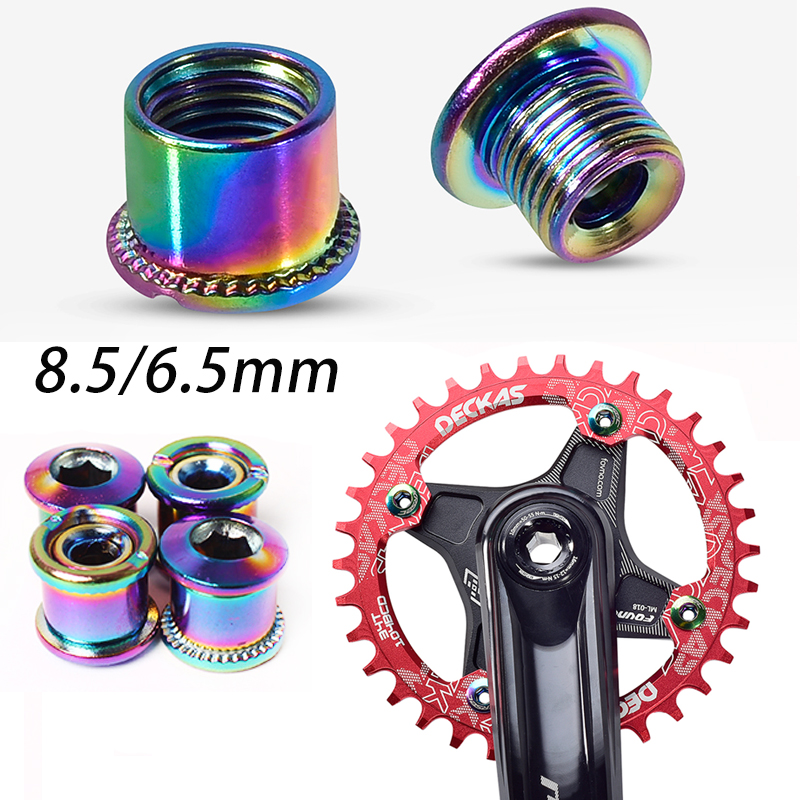New MTB BMX Crank Bolt 6.5 mm Road Bike Chainring Fixed Bolt Nuts For SHIMANO XT