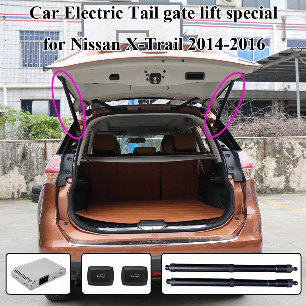 Otomobiller ve Motosikletler'ten Gövde Kapaklar ve Parçaları'de Akıllı elektrikli kuyruk kapısı asansör kolayca sizin için kontrol etmek için gövde takım elbise Nissan x trail Xtrail uzaktan kumanda ile elektrikli emme