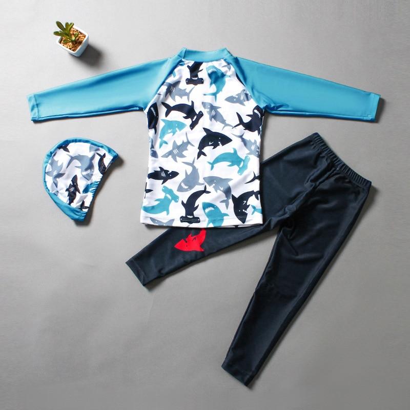 INS Fashion Child Bathing Suit Split Type Big Boy Long Sleeve Trousers Sun-resistant Students Large Size Boy Diving Suit CHILDRE
