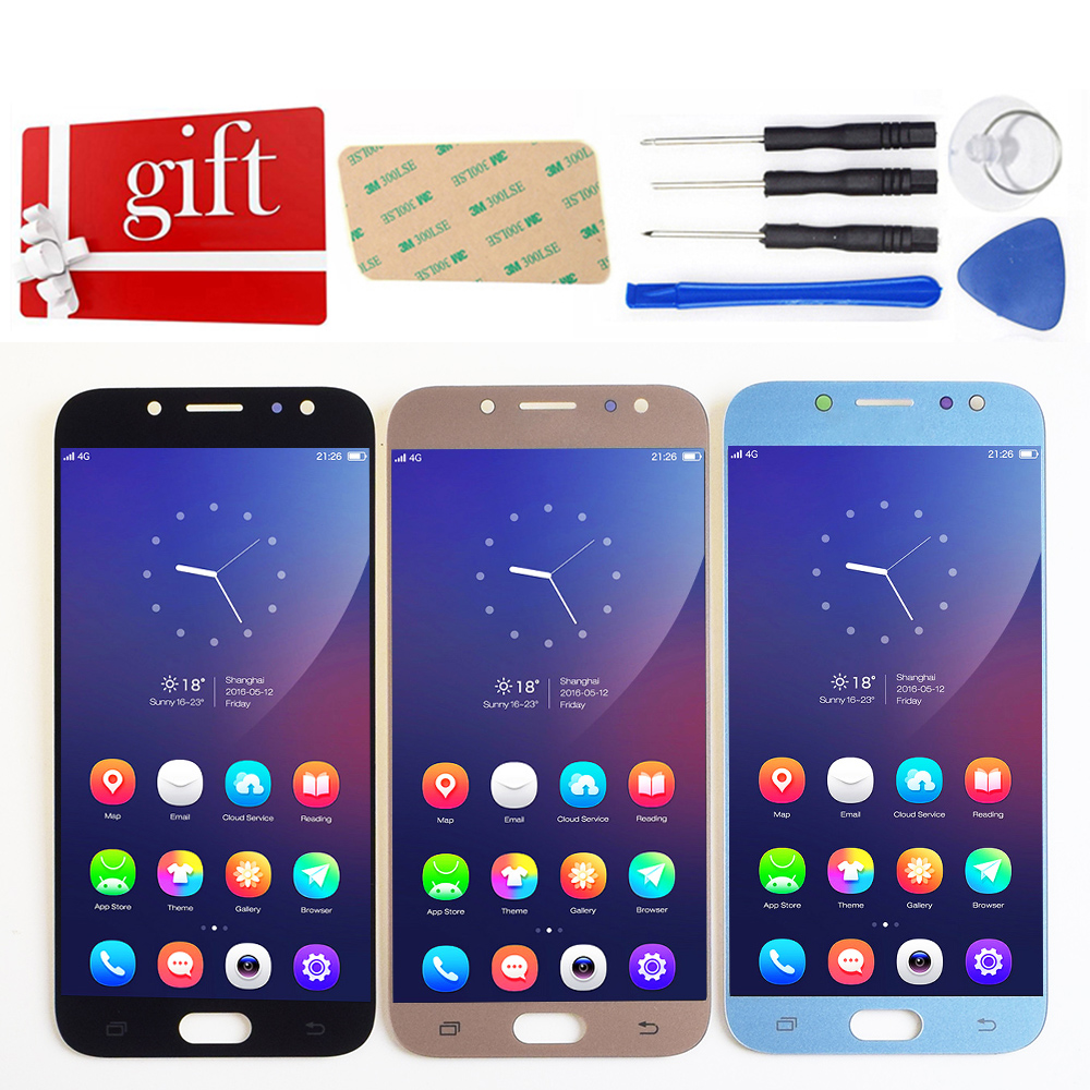 For Samsung Galaxy J7 Pro 2017 J730 SM J730F J730FM/DS J730F/DS J730GM/DS LCD Display + Touch Screen Digitizer glass Assembly|Mobile Phone LCD Screens| |  - title=