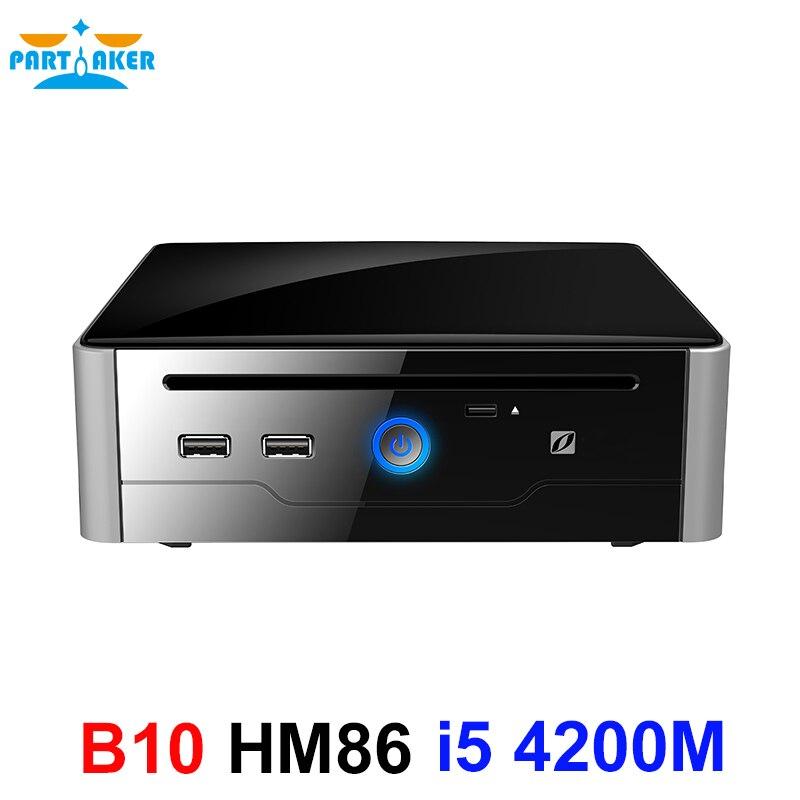 Intel Core I5 4200M 4300M Partaker B10 Mini PC Windows 10 HDMI DVI Dual Display Port Mini HTPC Mini Computer Linux I5