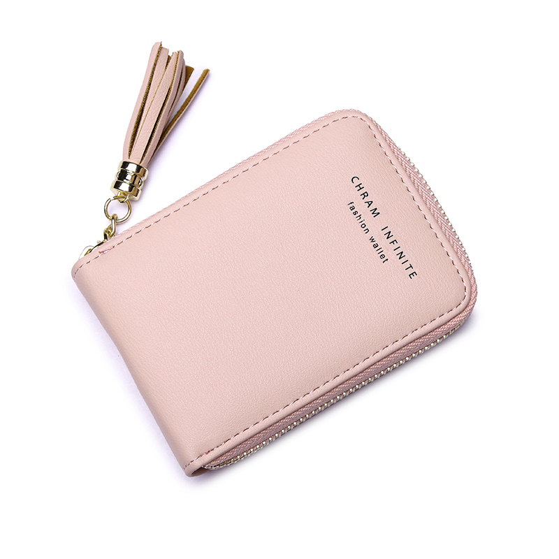 Slim Anti RIFD Wallet Women Business Card Holder Wallet Purses Girl Money Bag With Tessel Blocking Rfid Wallet Free Shipping2020