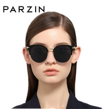 PARZIN Polarized Sunglasses Women Fashion Metal Half Frame Colorful Film  Lady Sunglasses Driver Driving Glasses 9675